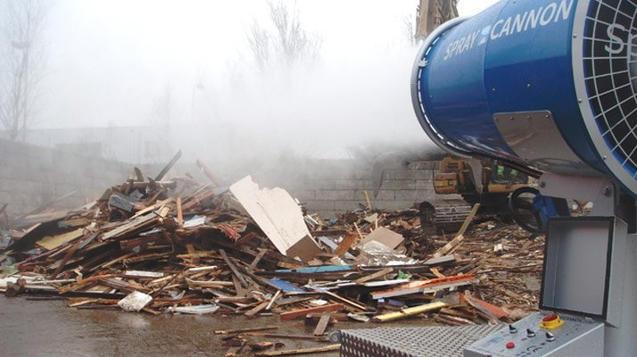 canon a eau pour brumisation de chantier