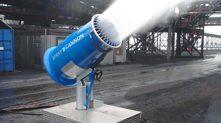 canon brumisateur pour chantier et démolition