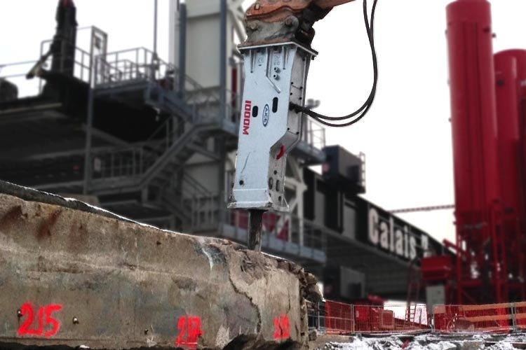 Marteau brise roche hydraulique AJCE 1000M pour démolition