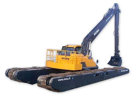 Pelle Amphibie Big Float REMU - RDS France, spécialiste du matériel TP
