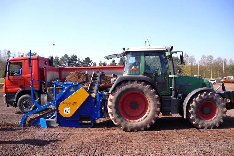 Trancheuse de sol sur tracteur GM140AF