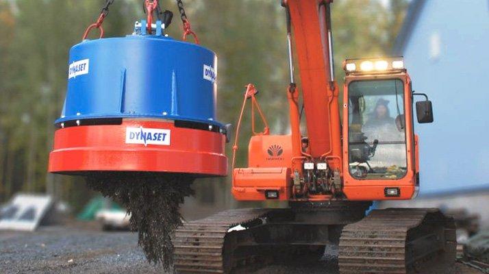 Aimant hydraulique Dynaset - RDS France, spécialiste du matériel TP