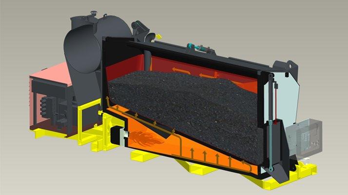 enrobé a chaud container asphaltherm - RDS France, spécialiste du matériel TP
