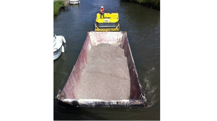Barge stockage CDO INNOV, bateau pousseur - RDS France, spécialiste du matériel TP