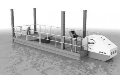 Barge de travail motorisée