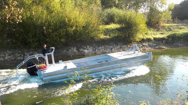 Barge puissante de transport travail - RDS France, spécialiste du matériel TP
