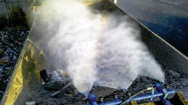 Brumisation embarquée Dynaset, montage benne - RDS France, spécialiste du matériel TP