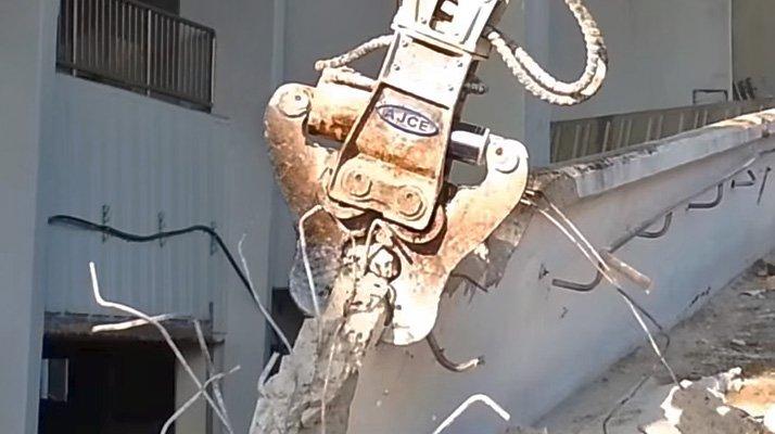 Cisaille combi AJCE broyage béton - RDS France, spécialiste du matériel TP