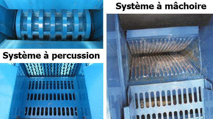 concassage machoire ou percussion rebel