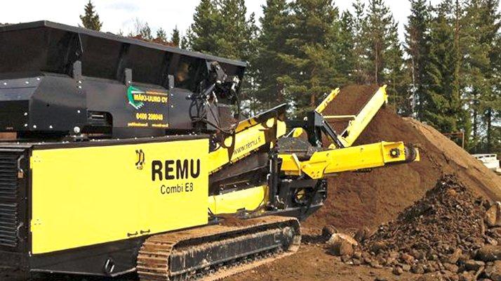 Crible mobile REMU E8 compact grande capacité - RDS France, spécialiste du matériel TP