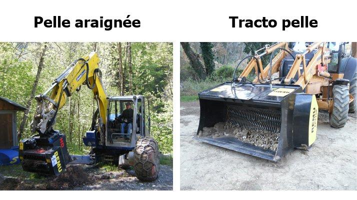 Godet cribleur broyeur REMU, pelle araignée, tractopelle - RDS France, spécialiste du matériel TP