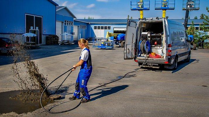 Nettoyeur haute pression Dynaset, conduite égout canalisation - RDS France, spécialiste du matériel TP