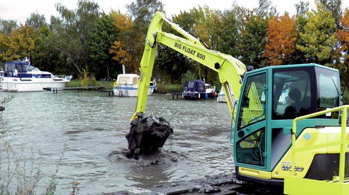 Pelle amphibie Big float REMU 800 - RDS France, spécialiste du matériel TP