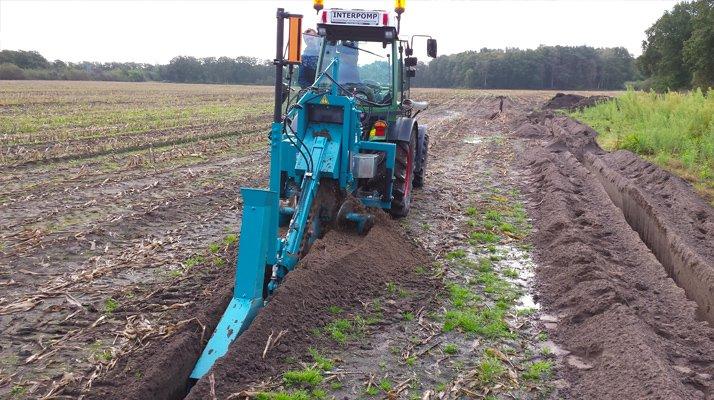 Trancheuse chaine LIBA attelée tracteur agricole - RDS France, spécialiste du matériel TP