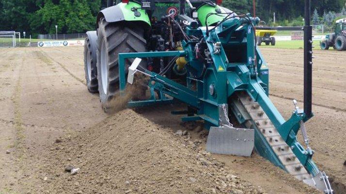 Trancheuse chaine LIBA attelée tracteur - RDS France, spécialiste du matériel TP