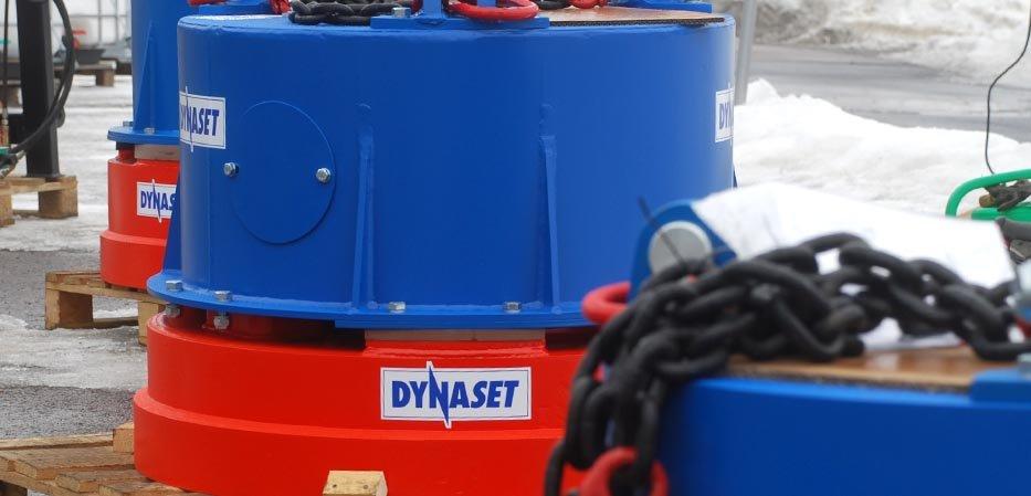Aimants hydrauliques Dynaset pour chantiers