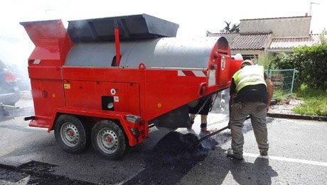 Recyclage in situ de l'enrobé