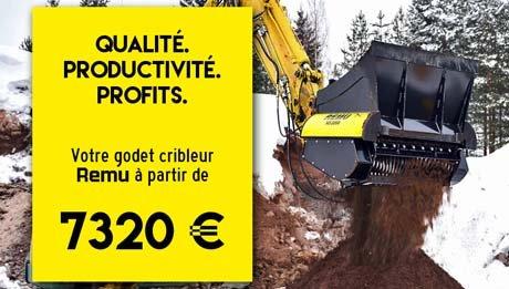 Godet cribleur REMU à partir de 7320 € - Actualités RDS France