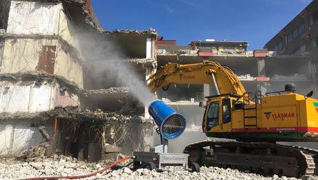Brumisateurs de chantier de démolition - Vidéo RDS France