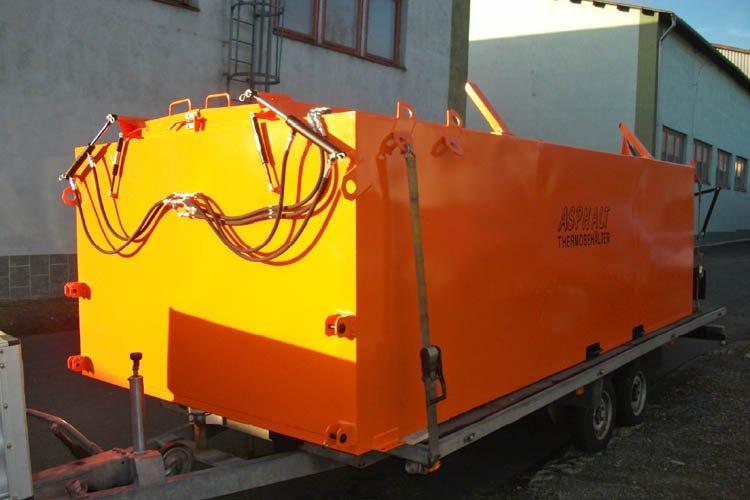 Ouverture hydraulique benne calorifugée Bagela