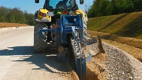 Roadshow trancheuse de sol Liba GM160 pour tracteur