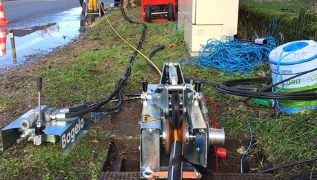 pousse câble Bagela pour aiguillage et tirage de fibre optique