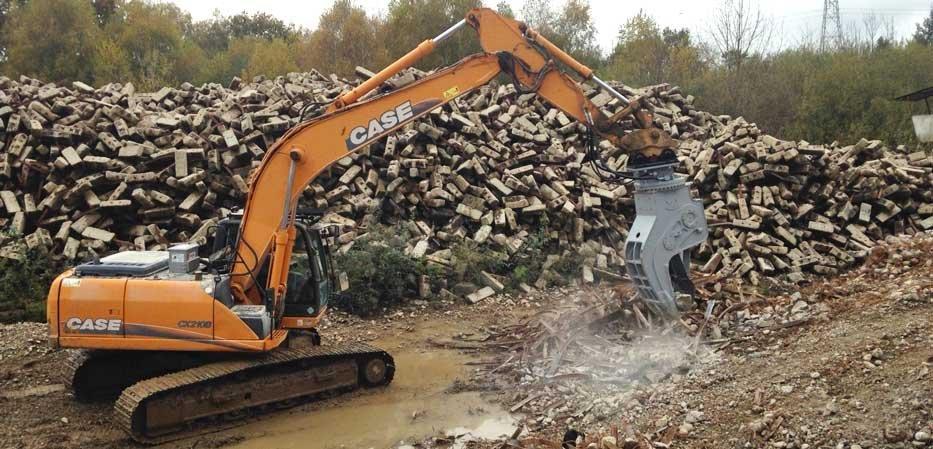 Equipement de démolition broyeur béton AJCE