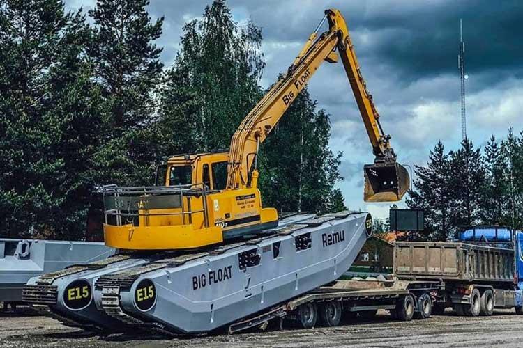 Transport pelle amphibie big float E15