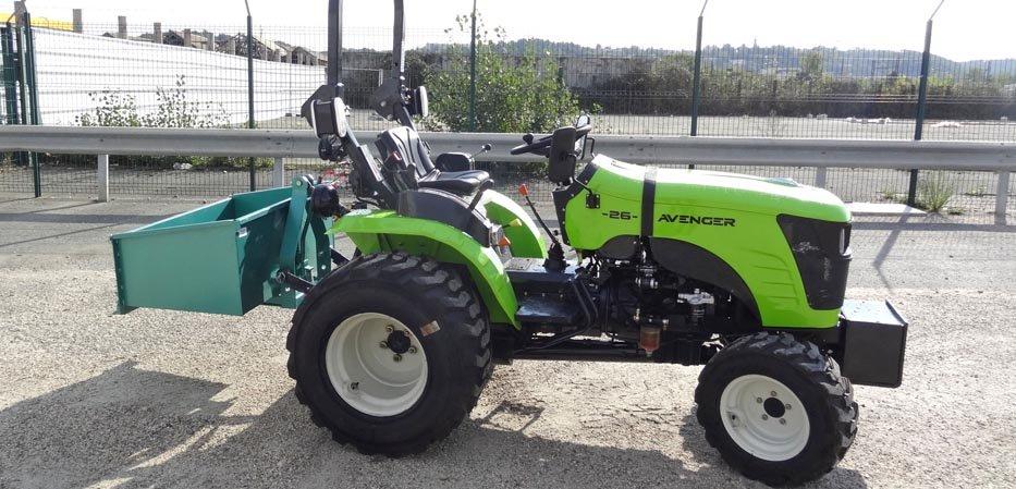 Bennette sur micro tracteur Preet